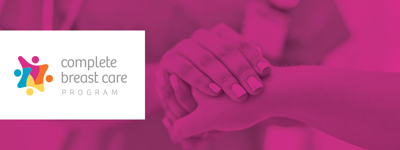 hands image with complete breast care program logo